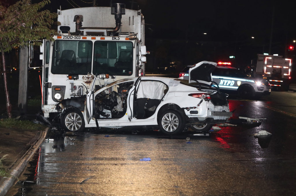 A truck vs. car accident in NYC