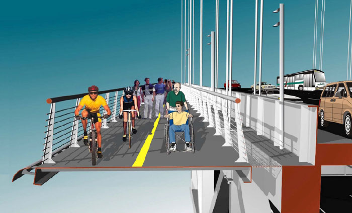 Proposed West Span Bicycle and Pedestrian Path (Source: MTC)