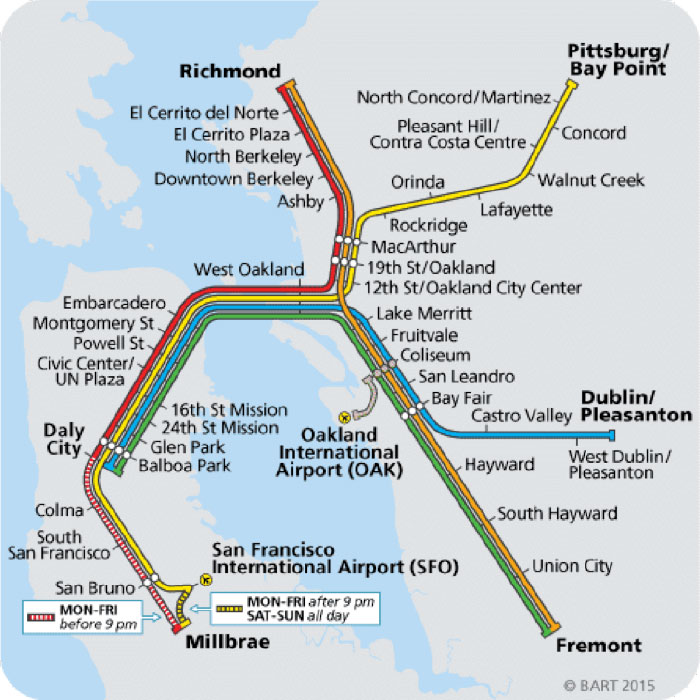BART System Map