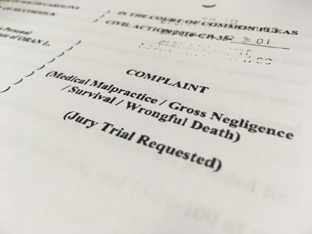 Wrongful death lawsuit complaint