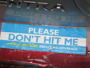 auto insurance bumper sticker