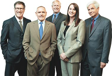 The attorneys including Andy Gillin, Luke Ellis, Jim Larsen, Kristen Lucey, and Ralph Jacobson